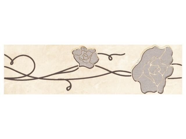 Płytka ścienna Tesalia beige listwa kwiatek 33,3x9,3