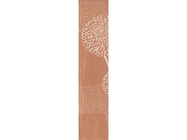 Płytka ścienna Edera brown listwa lewa kwiatek 40x8,5