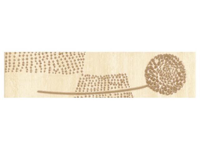 Płytka ścienna Edera beige listwa kwiatek 25x6