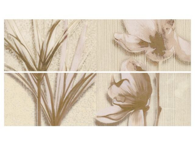 Płytka ścienna President listwa kwiatek 33,3x9,3