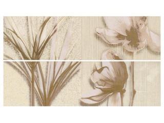 Płytka ścienna President listwa kwiatek 33,3x9,3 Cersanit