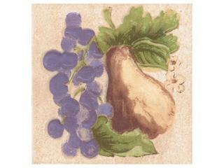 Płytka ścienna Ariza bianco motyw owoce 1 10x10 Cersanit