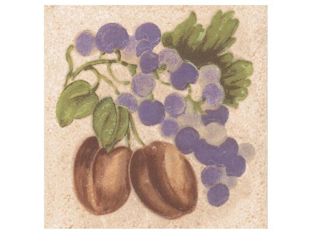 Płytka ścienna Ariza bianco motyw owoce 2 10x10