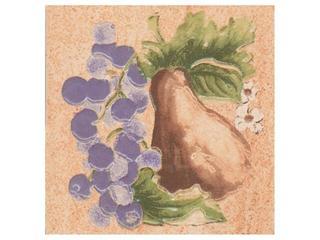 Płytka ścienna Ariza beige motyw owoce 1 10x10 Cersanit