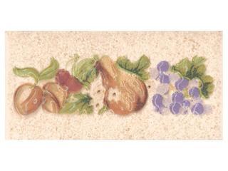 Płytka ścienna Ariza bianco listwa owoce 5x10 Cersanit