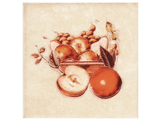 Płytka ścienna Sagra beige motyw owoce 3 10x10