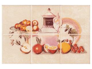 Płytka ścienna Sagra beige kompozycja owoce 20x30 Opoczno