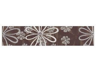 Płytka ścienna Euforia brown listwa kwiatek 1 40x8,5 Cersanit