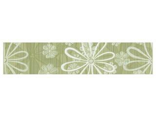 Płytka ścienna Euforia verde listwa kwiatek 1 40x8,5 Cersanit