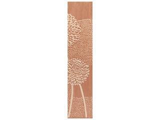 Płytka ścienna Edera brown listwa prawa kwiatek 8,5x40 Cersanit