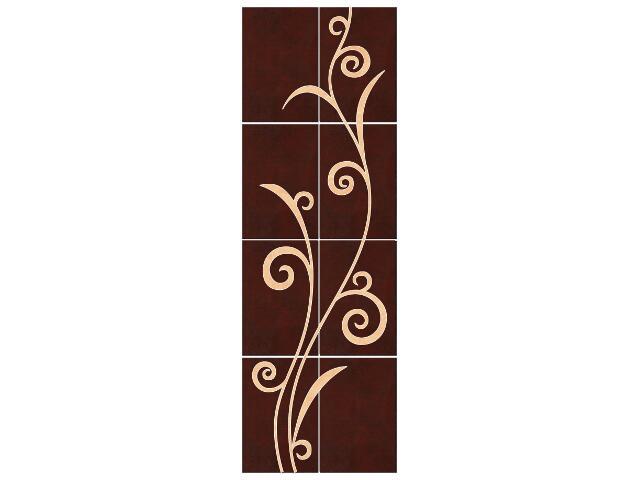 Płytka ścienna Tesalia brown/giallo kompozycja 66x200