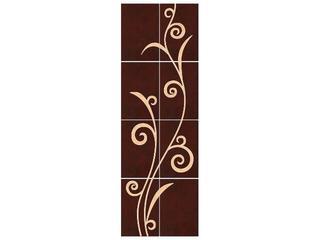 Płytka ścienna Tesalia brown/giallo kompozycja 66x200 Cersanit