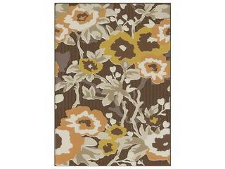 Płytka ścienna Frida brown inserto kwiatek 25x35 Cersanit