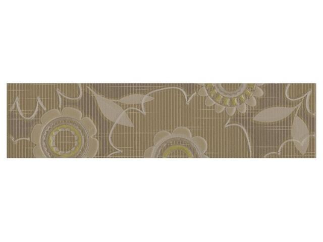 Płytka ścienna Trenza siena listwa kwiatek 35x8,5
