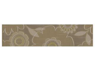 Płytka ścienna Trenza siena listwa kwiatek 35x8,5 Cersanit