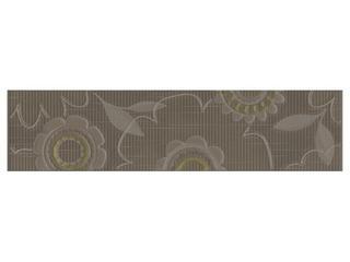 Płytka ścienna Trenza brown listwa kwiatek 35x8,5