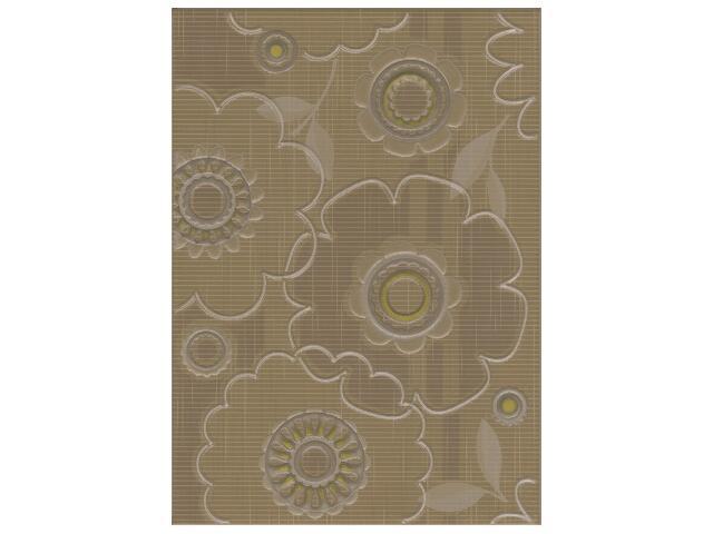 Płytka ścienna Trenza siena inserto kwiatek 25x35