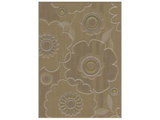 Płytka ścienna Trenza siena inserto kwiatek 25x35 Cersanit