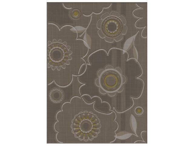 Płytka ścienna Trenza brown inserto kwiatek 25x35