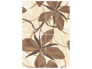 Płytka ścienna Kamelia brown inserto 50x70 Cersanit