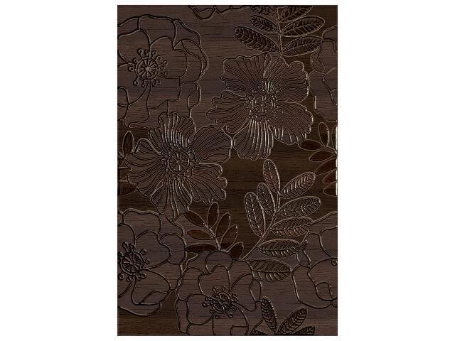 Płytka ścienna Carisma brown inserto kwiatek 33,3x50