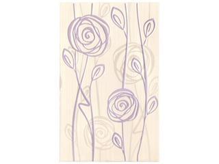 Płytka ścienna inserto Rosaria bianco 25x40 Cersanit