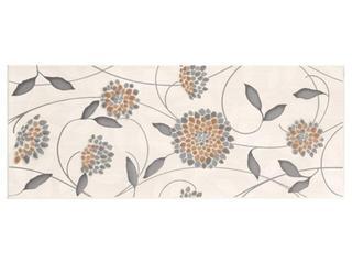 Płytka ścienna Synthia grys inserto kwiatek 20x50 Cersanit
