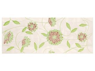 Płytka ścienna Synthia verde inserto kwiatek 20x50 Cersanit