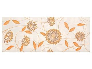 Płytka ścienna Synthia orange inserto kwiatek 20x50