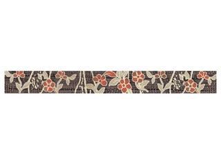 Płytka ścienna Symfonia brown listwa kwiatek 4,8x45 Cersanit