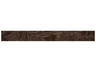 Płytka ścienna Carisma brown listwa kwiatek 4,8x45 Cersanit