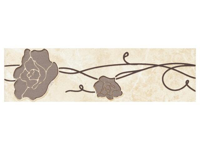 Płytka podłogowa Tesalio beige listwa podłogowa kwiatek 33,3x9,3