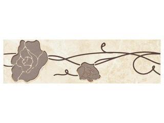 Płytka podłogowa Tesalio beige listwa podłogowa kwiatek 33,3x9,3 Cersanit