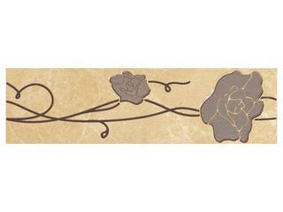 Płytka podłogowa Tesalio giallo listwa podłogowa kwiatek 33,3x9,3 Cersanit