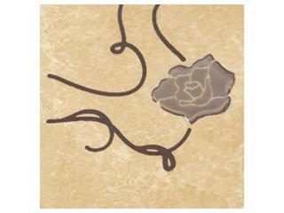Płytka podłogowa Tesalio giallo narożnik podłogowy kwiatek 9,3x9,3 Cersanit