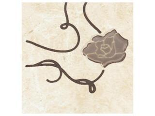 Płytka podłogowa Tesalio beige narożnik podłogowy kwiatek 9,3x9,3