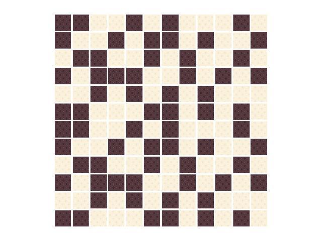 Mozaika Kashmire Bianco/Viola 30x30 Paradyż