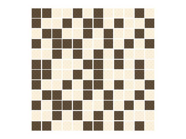 Mozaika Kashmire Bianco/Brown 30x30 Paradyż