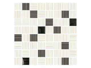 Mozaika Organic krem-grafit 25x25 Cersanit