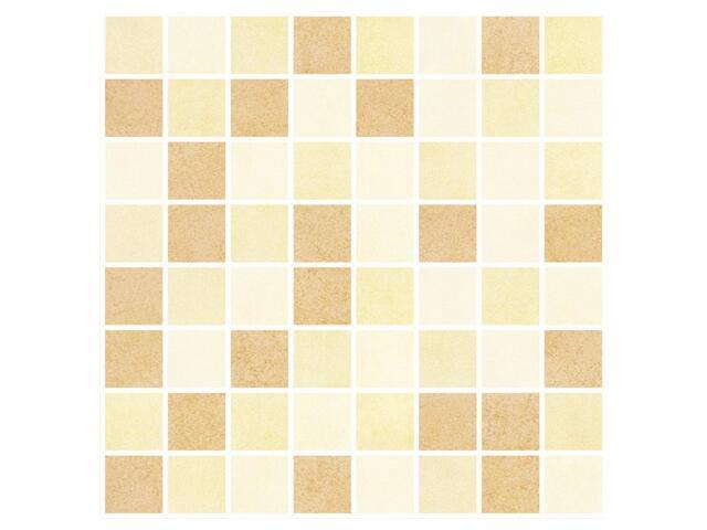 Mozaika Rexona brown/beige/giallo 25x25