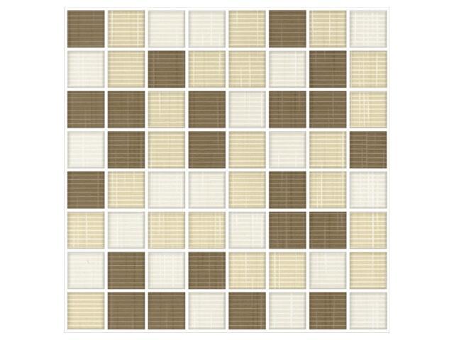 Mozaika Trenza bianco/siena/beige 25x25
