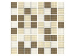 Mozaika Trenza bianco/siena/beige 25x25 Cersanit