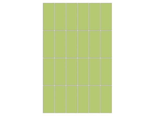Mozaika Aroma verda prostokąt 25x40
