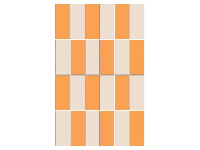 Mozaika Aroma bianco-orange prostokąt 25x40