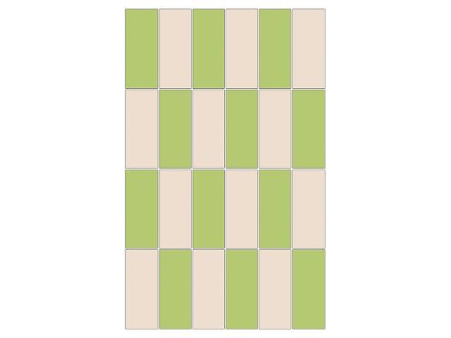 Mozaika Aroma bianco-verde prostokąt 25x40
