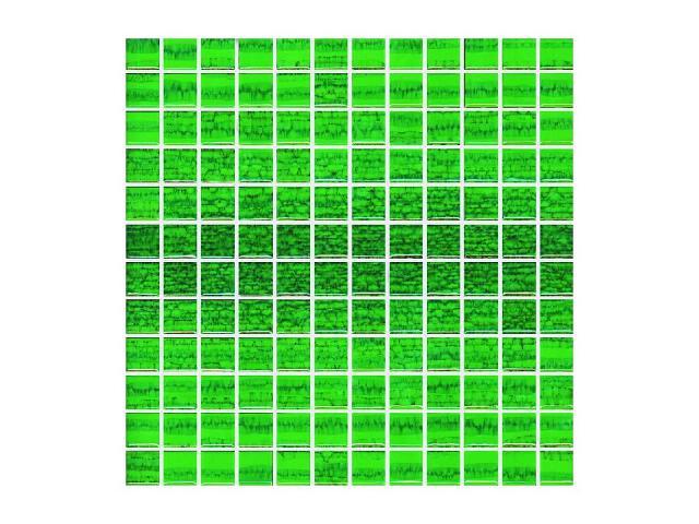 Mozaika Candy Verde paski 30x30 Paradyż
