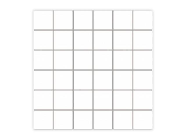 Mozaika Albir Bianco 30x30 kostka 4,8x4,8 Paradyż
