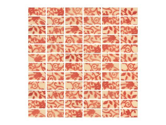 Mozaika Hiroe Rosa prasowana 30x30 Paradyż