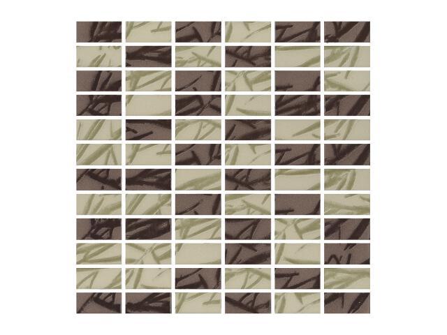 Mozaika Bambus Mix Brown/Verde 30x30 Paradyż