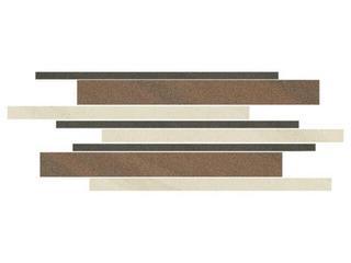 Mozaika Kando cotto-bianco-nero paski 14,7x41 Opoczno